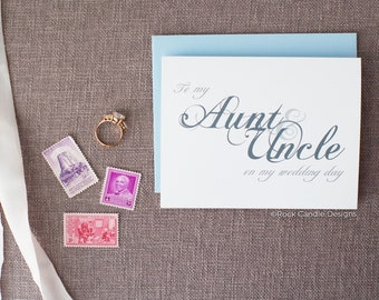 To My Aunt & Uncle On My Wedding Day Card | Card for Aunt and Uncle | Wedding Stationery | Wedding Card | Wedding Card from Bride and Groom