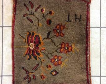 Saddlebag carpet,Nomad food saddlebag,Flowered saddlebag,Handmade saddlebag,Anatollion hand woven rug