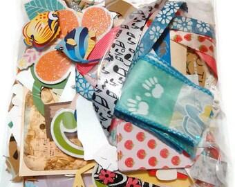 Large Junk Journal, Scrapbook Grab Bag 100 pieces