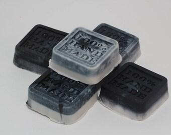 Activated Charcoal - Bentonite Clay - Tea Tree Oil - 100% Natural Facial Body Soap - Detoxifying