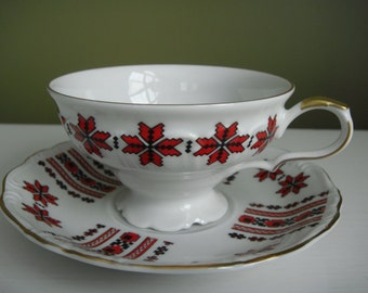 Vintage Edelstein Bavaria Teacup and Saucer - Maria-Theresia - Made in Germany