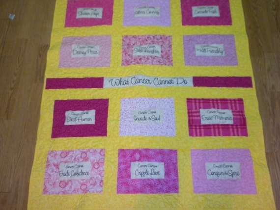 What Cancer Cannot Do Lap Quilts