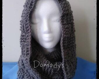 Crochet Scarf, Crochet Neck Scarf, Neck Scarf, Grey Crochet Scarf, Crochet Neck Warm, Neck Warm, Ombre Cowl
