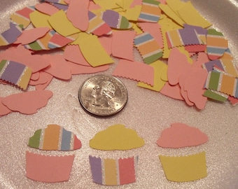 50 Hand Punched Birthday Cupcakes Card Making, Scrap booking, Embellishments or Confetti