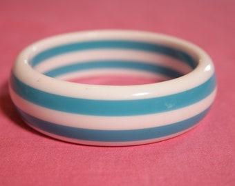 Sky Blue Candy Stripe Bracelet