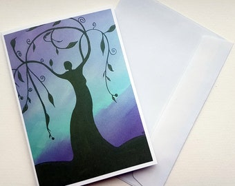 Goddess Card, Pagan Card, Wiccan Card, Sabbat Card, Pagan Greeting Card, Ritual Card, Earth Goddess, Blank Card, Altar Card, Art Card, Pagan