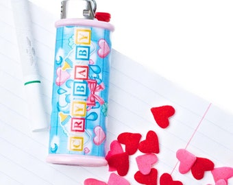 Crybaby Bic Lighter Case - Alphabet Blocks - Lighter Cover - Lighter Holder