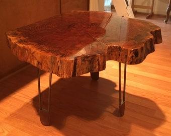 Table:  Live Edge-OAK, wood