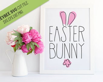 Easter Bunny SVG Cut file for Silhouette and Cricut type cutting machines