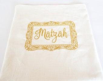 Gold Embroidered Matzah Cover Jewish home Jewish Tradition Jewish holiday Pessach Passover Gift Seder Pessach Pesach Table Passover table
