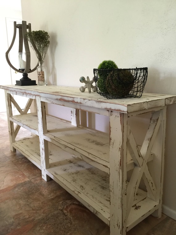 Foyer Table Name : Farmhouse console entryway foyer table