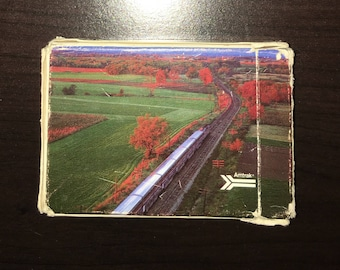Vintage Amtrak Train Playing Cards