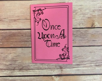Once Upon a Time Storybook Invitation with Library Card