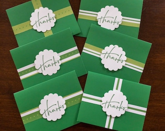 6 Pack of Thank You Cards |  Handmade Cards | Set of Thank You Cards
