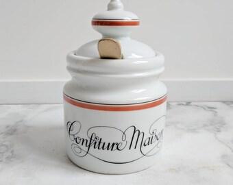 French Kitchen Canister - Pot de Confitures  - Jam Jar - Jam Canister - Jam Container - French Kitchen - French Kitchen Decor