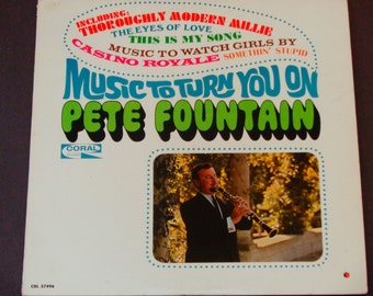 "Pete Fountain - Music to Turn You On - Clarinet Dixieland Jazz -  ""Music to Watch Girls By"" - Coral Original Mono 1967 - Vinyl LP Record Alb"