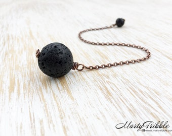 Crystal Pendulum, Copper Dowsing Pendulum, Black Lava Stone Pendulum, Metaphysical Healing, Scrying Divination, Fortune Telling, Wiccan (34)