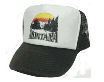 Montana Trucker Hat Mesh Hat CHOOSE COLOR hat! adjustable one size fits most new