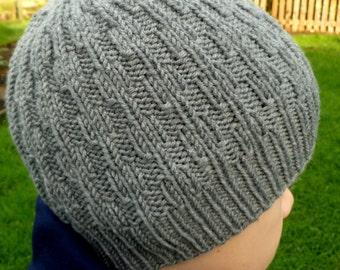 Instant Download Knitting PDF Pattern - Bricks Hat