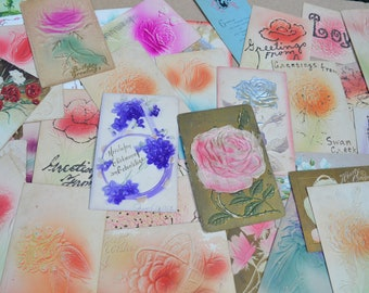 Lot of 38 Assorted Antique Postcards