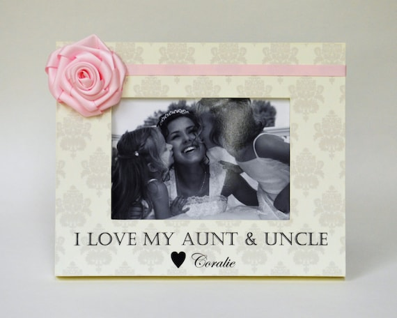 Aunt Uncle Picture Frame Gift Personalized from Niece Nephew Custom ...