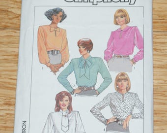 Vintage Retired Simplicity Shirt Pattern 8236 Size NN Misses Size 10 -16