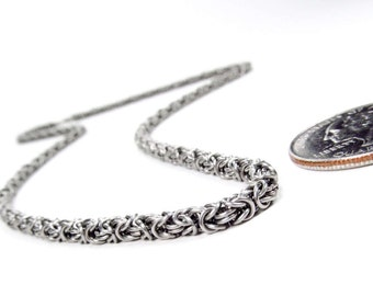 Chainmaille - Micro Maille Necklace - Byzantine Pattern