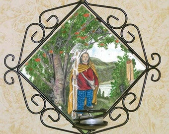 Celtic Rowan Tree Wall Candle Sconce