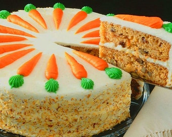 Whole two layer carrots cake