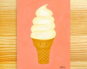 Vanilla Twist 5x7 Art Print
