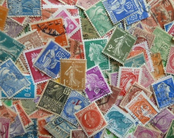 French Colors - 200 Colorful Vintage Stamps from France for Paper Crafting, Collecting, Decoupage,  Collage and More...