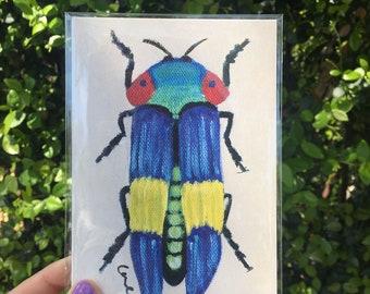 Jewel Beetle Print