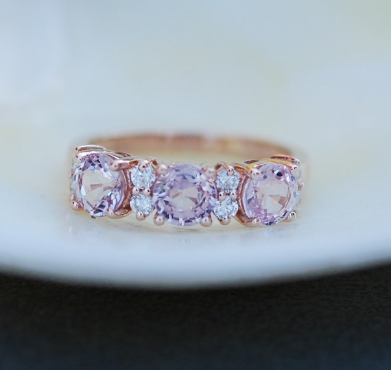 halo lavender ring unheated rings gold sapphire media white engagement diamond weddbook