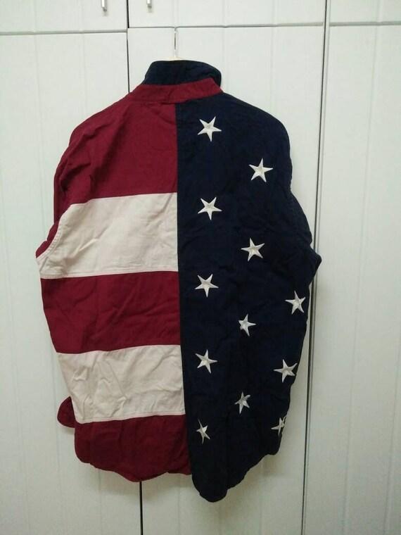 Jacke mit usa flagge am armel