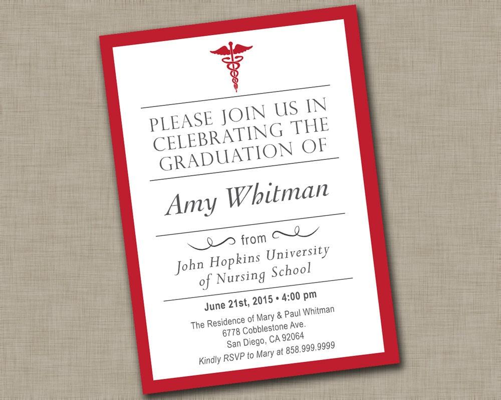 Nursing School Graduation Invitation / Medical Graduation