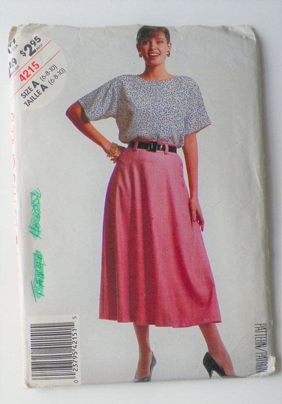 Misses Sewing Pattern Top & Skirt Sewing Pattern McCall\'s Stitch N ...