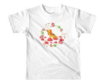 Happy Chinese New Year 2018 Year of The Dog Adorable Modern Design Short sleeve kids t-shirt