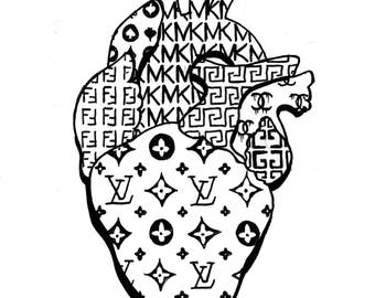 Fashion Heart; art print, heart print, artwork, design, home decor