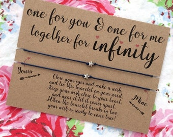 Together for Infinity Wish Bracelet, Best friend Gift, Friendship Bracelet, Couple, Newlyweds, Wedding gift