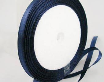 The meter DarkBlue satin ribbon