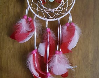 Red Coral Tree Of Life Dreamcatcher Handmade To Order