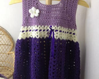 Crocheted toddler dress with matching wrap