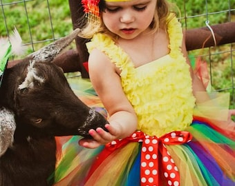 Rainbow Tutu | Rainbow Tutu Skirt | Rainbow Tutu Baby | Trolls Tutu | Rainbow Baby | Trolls Birthday | Baby Tutu | Birthday Tutu