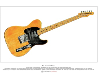 Roy Buchanan's Nancy Telecaster Guitar Limited Edition Fine Art Print A3 size