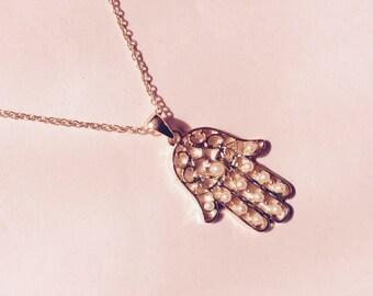 Hamsa Hand Necklace // Hand of Fatima // Layering Necklace
