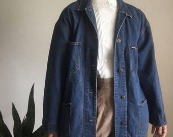 vintage workwear denim chore jacket