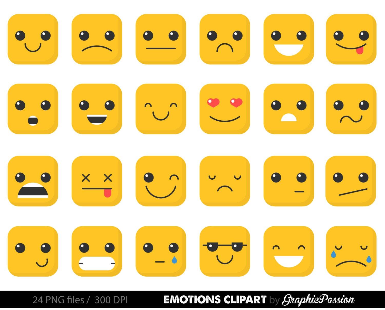 emotion clipart feelings clipart faces collage sheet emoji calendar rh etsystudio com clipart emotions clip art emotions faces