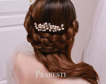 Bridal Hair Comb - Crown Me Hair Comb - Made to Order