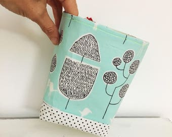 Fabric storage basket - cloud 9 fabric basket - yoyogi park - duck egg blue, black and white - plant pot cover - nursery storage