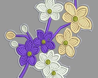Machine Embroidery Design Patch - 2 Sizes,Flower Patch Embroidery Design,Paadar Club Embroidery Pattern